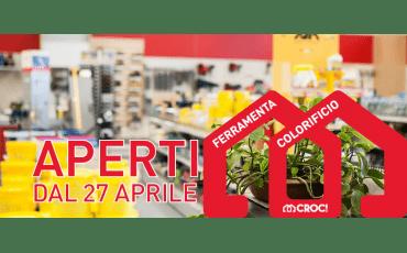 Siamo aperti dal 27 aprile